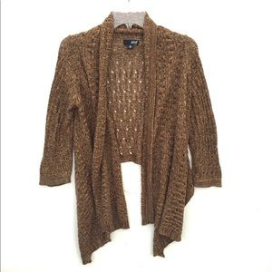 a.n.a Sparkle Cardigan Knit Waterfall Open Front